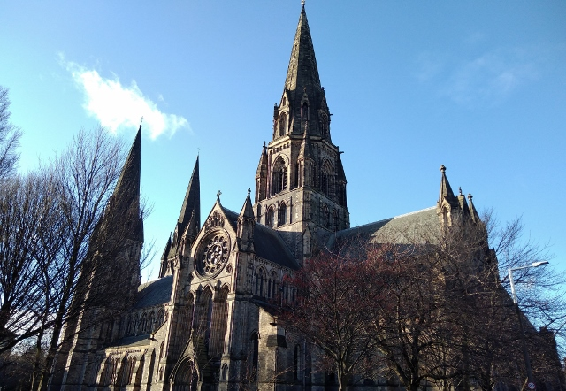 The steeples of St Mary's Cathedral, Edinburgh