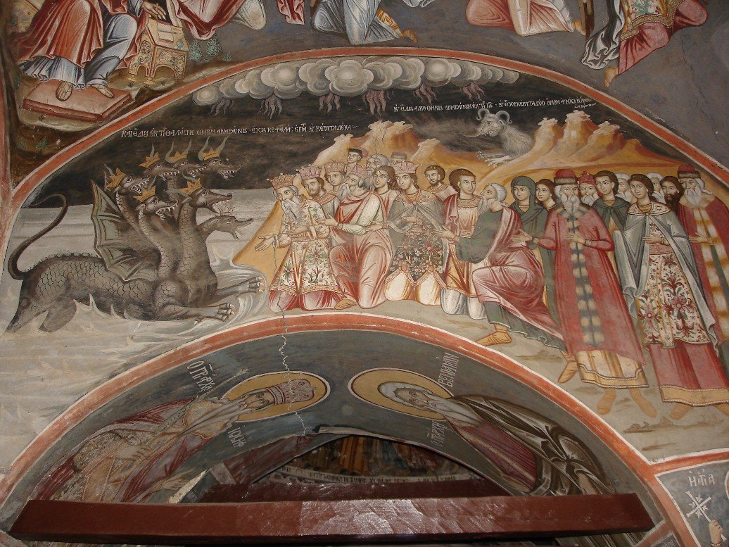 The frescoes of Mount Athos