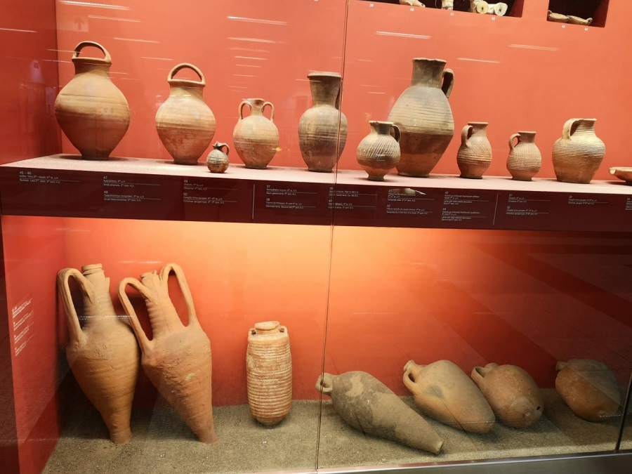 Old urns in terracotta