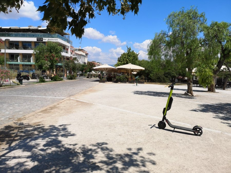 Scooter on pavement