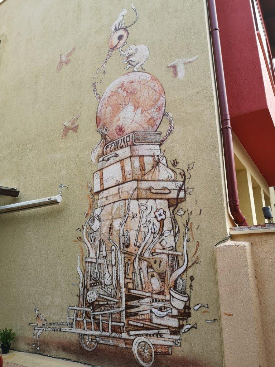Humorous street art