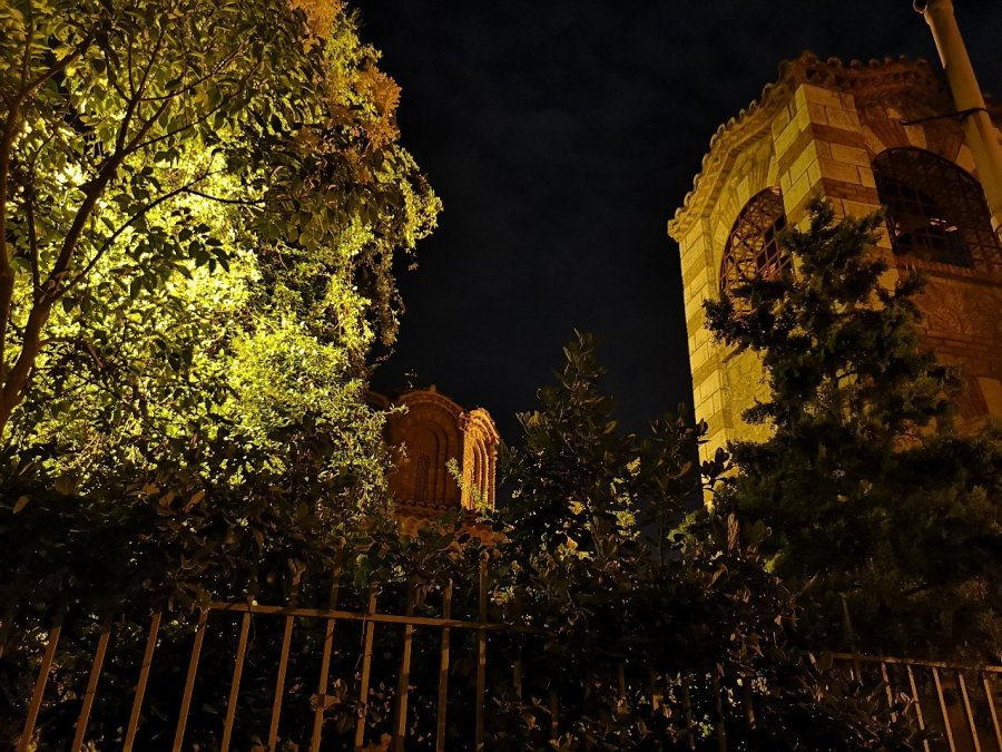 Trees and religious building