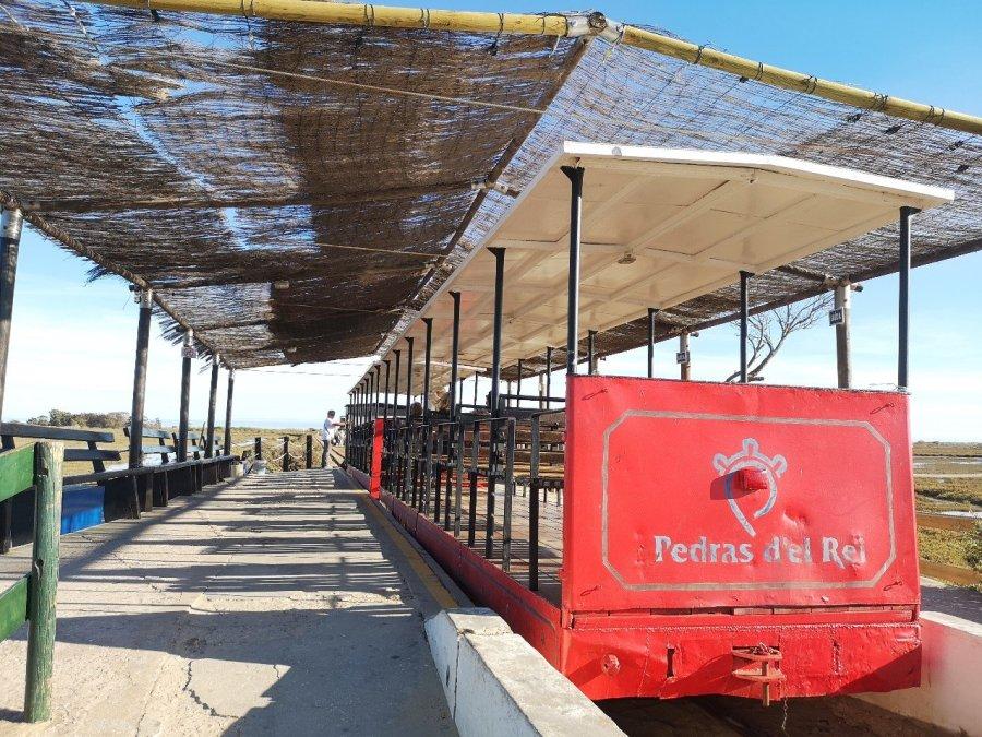 passenger train to beach Tavira