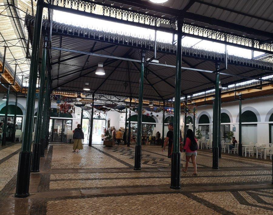 decorated floor market Tavira