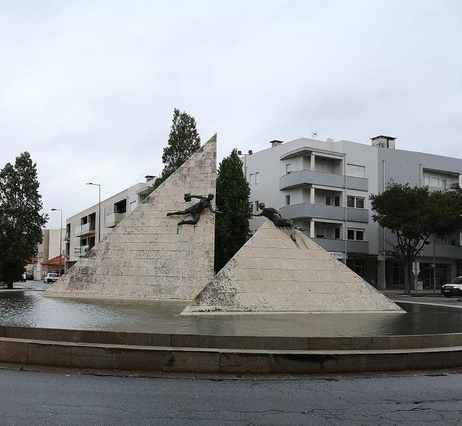 stone monument to education Vila do Conde Portugal