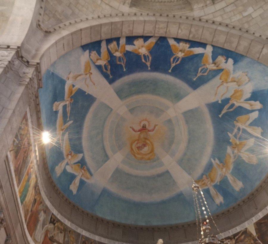 fresco roof detail Santa Luzia Portugal