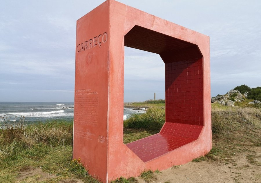 Carreco beach monument Portugal