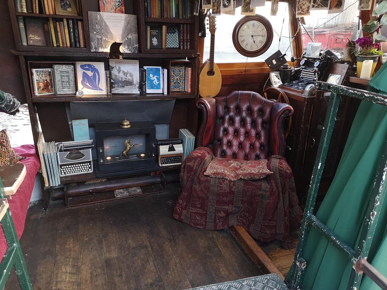 Boat Bookshop interior