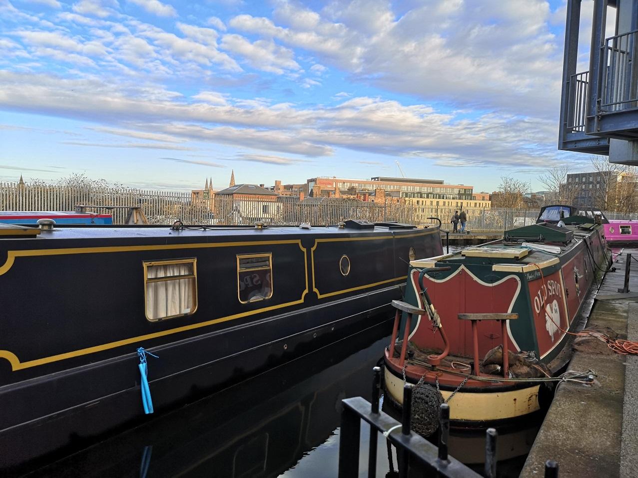 Canal boats, Edinburgh and Glasgow Union Canal