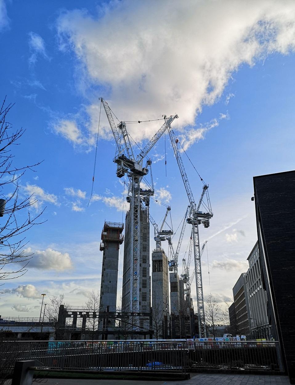Cranes at Kings Cross